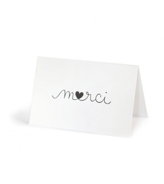 Mini carte double Merci