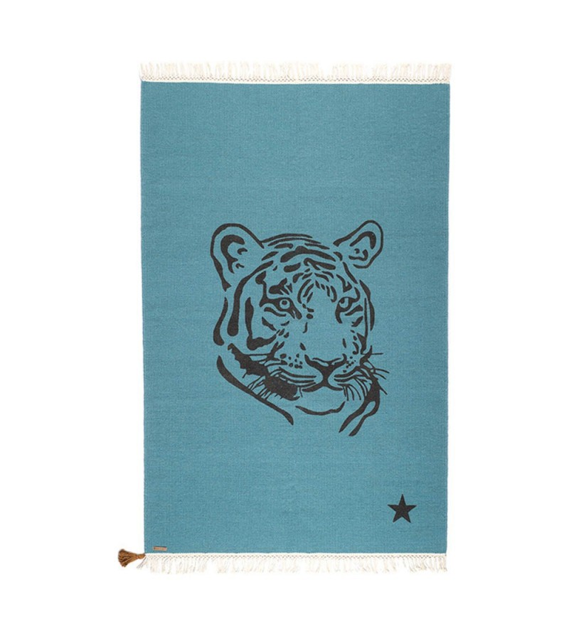 tapis gypsy tigre bleu canard milkybunnies. Black Bedroom Furniture Sets. Home Design Ideas