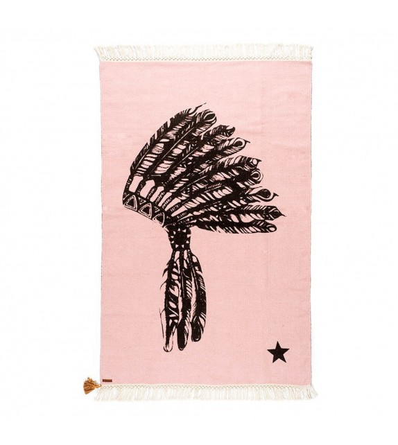 Tapis Gypsy Coiffe d'Indien Rose