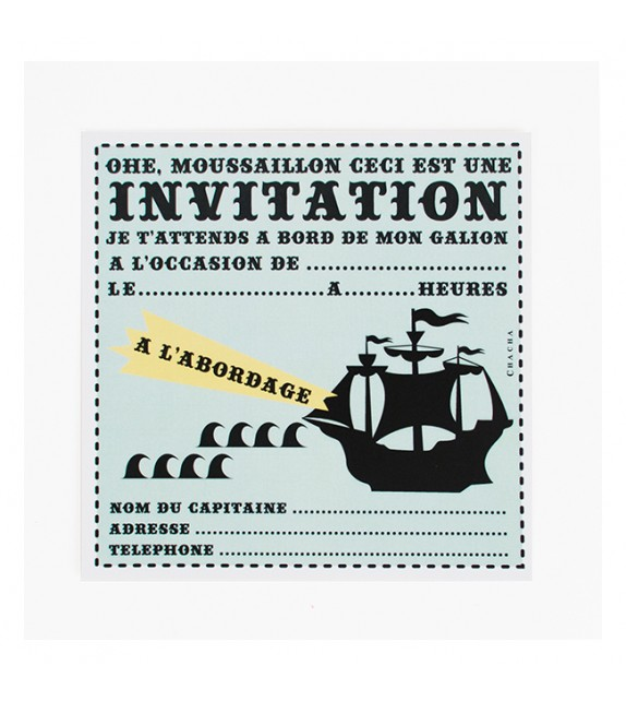 8 cartons d'invitation Dinosaure