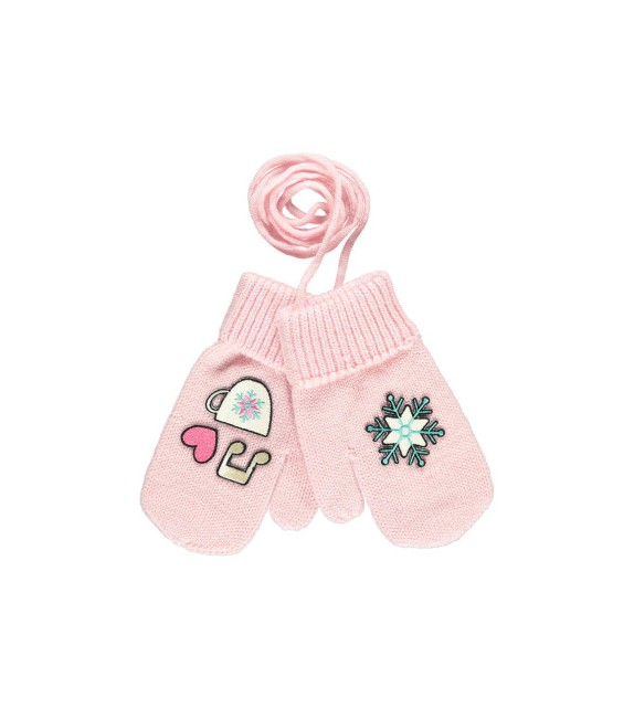 Moufles laine Patineuse rose