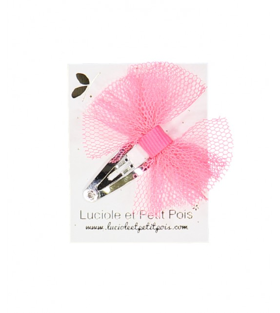Barrette Mini tutu - Rose fluo
