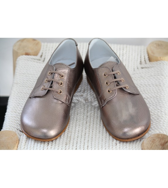 Derbies cuir or