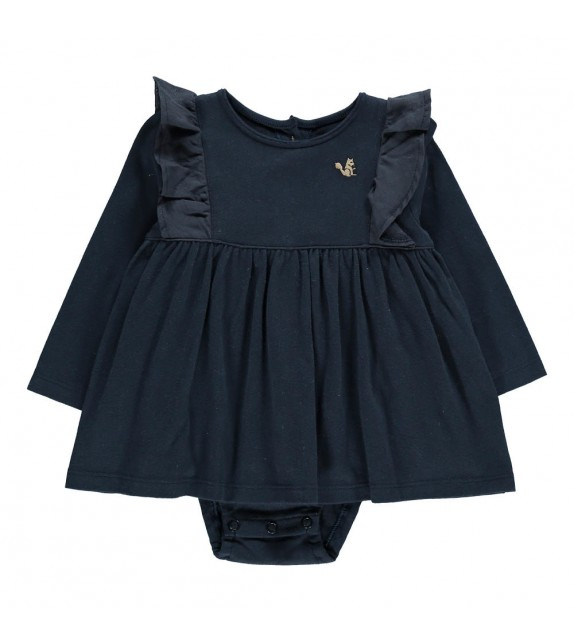 Robe body volants Ecuteuil Gris anthracite