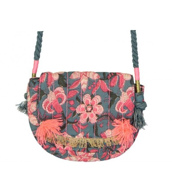 Sac Malika blue flower