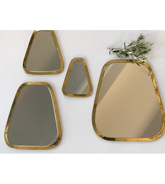 Miroir en maillechort forme Cosy Or small