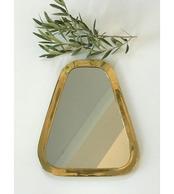 Miroir en maillechort forme Cosy Or medium