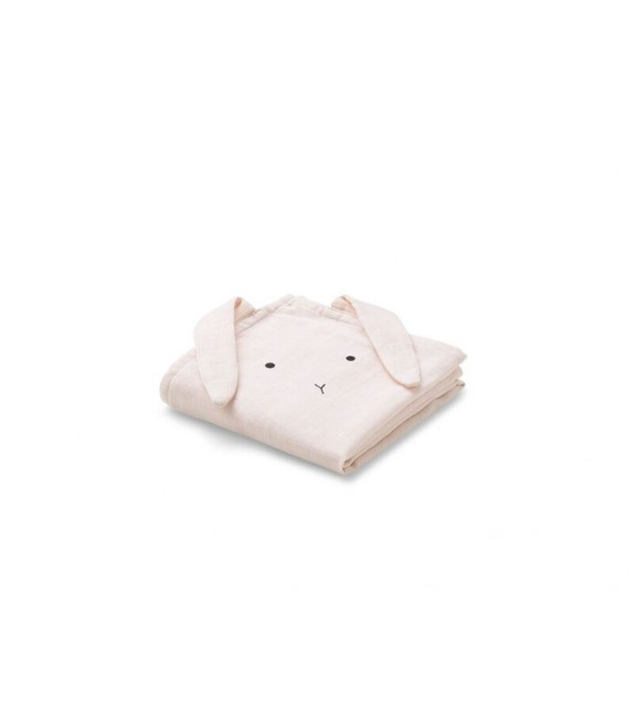 Langes Lapin rose pâle - Pack de 2