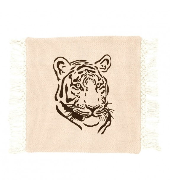 Coussin Gypsy Tigre gris