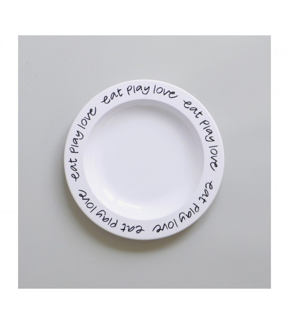 Assiette Eat Play Love black