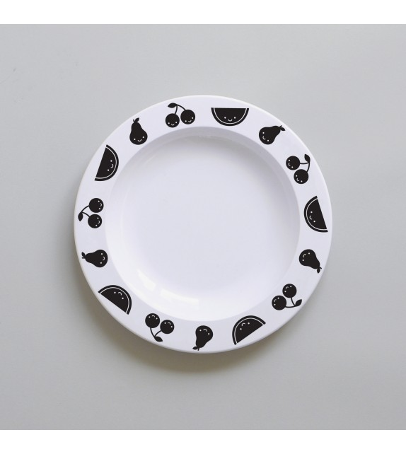 Assiette Fruit Friends black