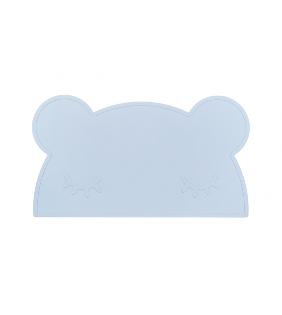 Set de table silicone bleu ciel Ours