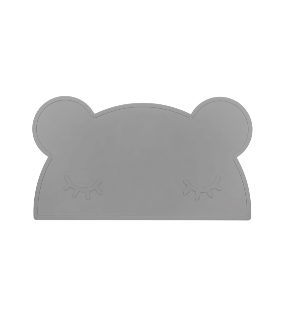 Set de table silicone gris clair Ours