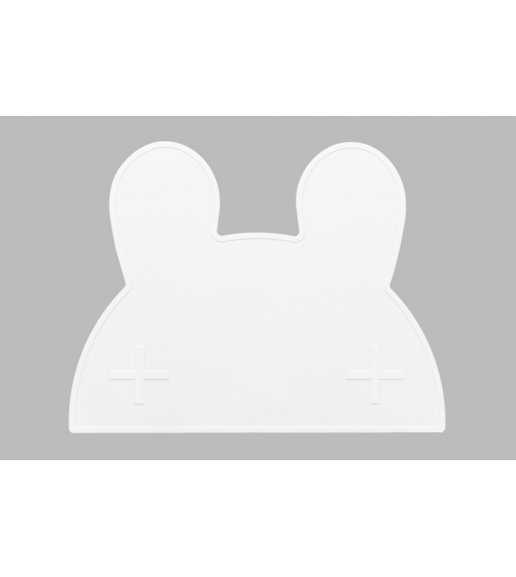 Set de table silicone noir Lapin
